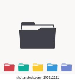 Folder icon , Vector illustration