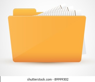 Folder icon. Vector illustration