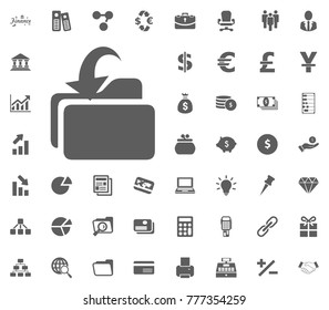 Folder incoming icon. money and finance icon set, vector icon.