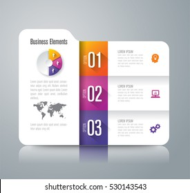 Folder infographic design vector and marketing icons can be used for workflow layout, diagram, annual report, web design. Business concept with 3 options, steps or processes.