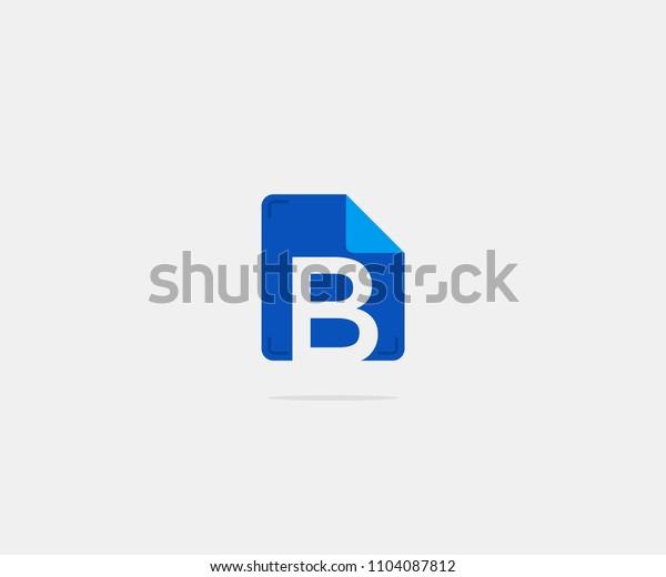 Folder Letter B Logo Icon