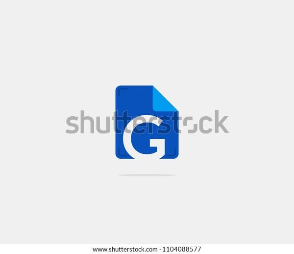 Folder Letter G Logo Icon