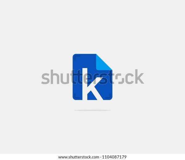 Folder Letter K Logo Icon