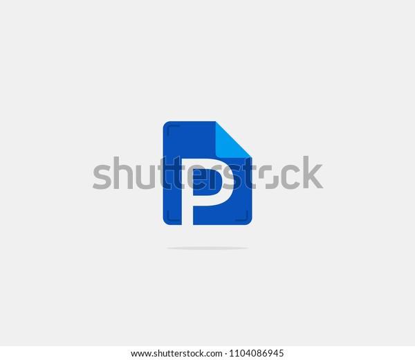 Folder Letter P Logo Icon