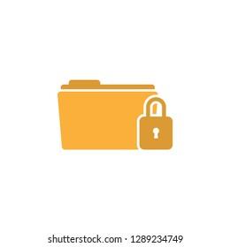 Folder lock icon graphic design template vector isolated