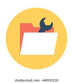 Folder Setting Vector Icon