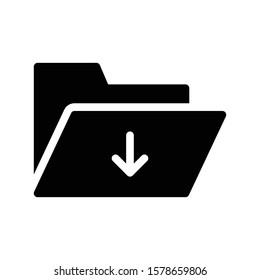 folder vector glyph flat icon