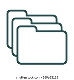 Folders Icon Illustration Isolated Vector Sign Symbol