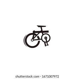 Folding bike graphic vector illustration logo design inspiration