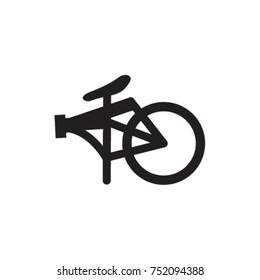 Folding Bike Icon Vector