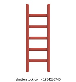 Folding ladder icon. Cartoon of folding ladder vector icon for web design isolated on white background