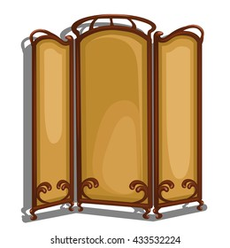 Folding screen isolated on white background. Vector.