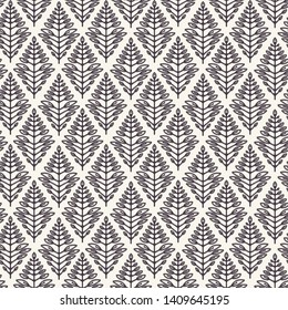 Foliage leaf paisley motif persian style. Vector seamless pattern. Arabesque boteh foulard textiles swatch. Classic damask home decor. Traditional ogee motif. Trendy art deco ethnic all over print.