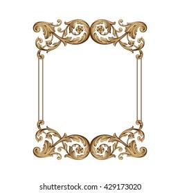 Foliage vector, Ornament. Decorative Vector. Ornaments Art. Baroque Picture. Baroque ornament Image. Filigree vector. Decorative design. Ornament vector design. Baroque art. Heraldry vector
