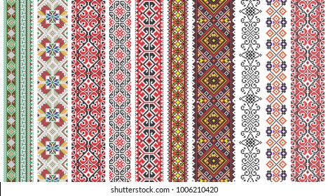 Folk art knitted embroidered good by cross-stitch pattern