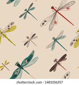 Dragonfly Drawing Folk Art