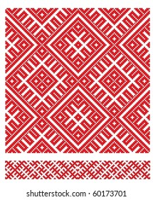 folk embroidery pattern