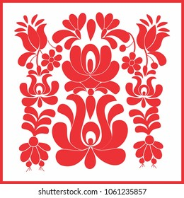 Folk floral embroidery ornament pattern for t-shirts or as print out for calendars or as event decoration