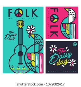 folk music festival vector  background