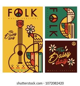 folk music festival vector  background