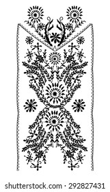 Folk neck print for garments or other uses, in vector