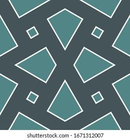 Folk wallpaper. Rhombuses, kites motif.Geometric backdrop. Seamless vector. Ethnic ornament. Tribal pattern. Quadrangles background. Digital paper, textile print, abstract.