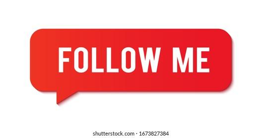 Follow me. Sotial media notifications.