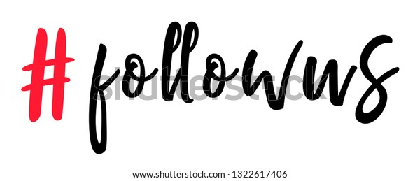 Follow Us Hashtag Symbol Instagram Hashtag Stock Vector