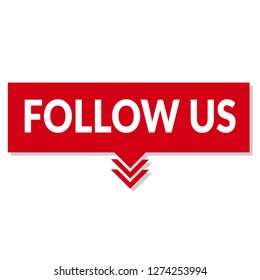 follow us sign - speech bubble, tag sign,banner