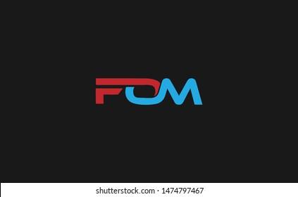 FOM, FO, FM, OM Logo Letter Initial Logo Designs Template