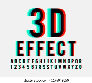 Font 3d effect in vector format