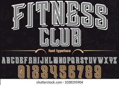 font alphabet typeface handcrafted vector named fitnes club