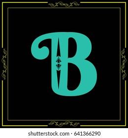font alphabet typeface vector b