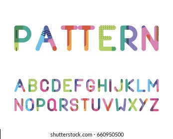font from a bright pattern