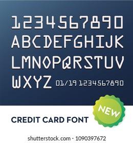 Font for credit cards