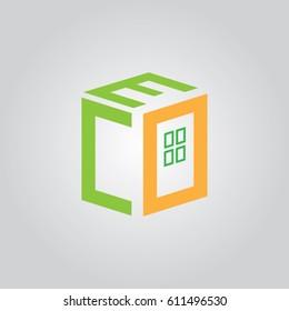 font E C O icon to logo company
