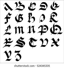 font gothic 29
