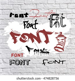 Font is graffiti.