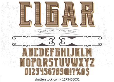 font handcrafted typeface vector vintage named vintage cigar