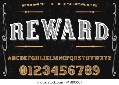 font handcrafted vector typeface named reward