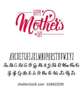 Font handmade - modular and hand-written, can be used for your design, for example - badges, posters