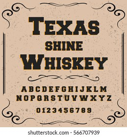 font handwritten vector Calligraphic vector vintage alphabet,vector,script,font,labels,designers for typeface,grunge,banners with decoration,handcrafted,Hand Lettering named texas shine whiskey