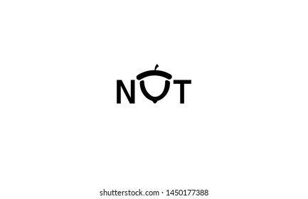 font logo. logo nut, acorn logo, simple logo on a white background, acorn oak, nut - vector