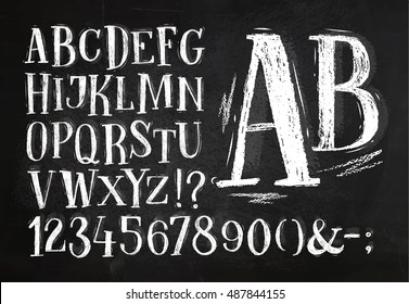Sketched font stock images royalty free images vectors