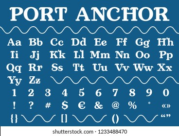 Font port anchor for the marine theme. Made on the basis of anchor.