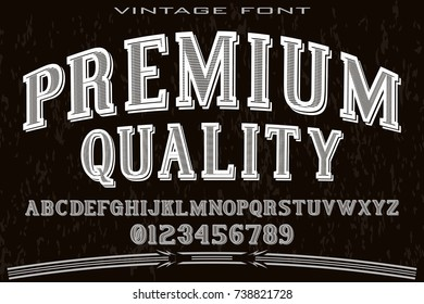 font script typeface handcrafted vector named premium quality