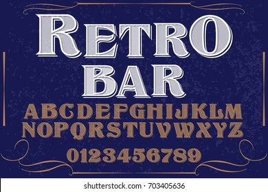 font script typeface old style named retro bar
