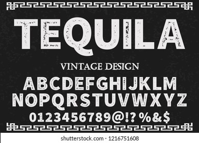font script typeface vector named tequila