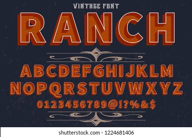 font script typeface vector named vintage ranch
