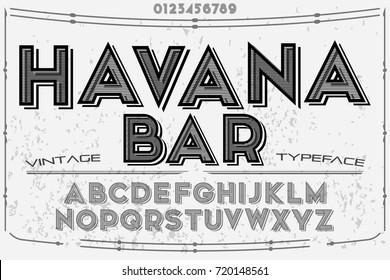 font script typeface vector named havana bar